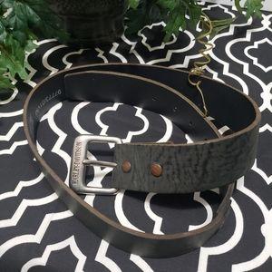 Harley Davidson distressed men's leather belt